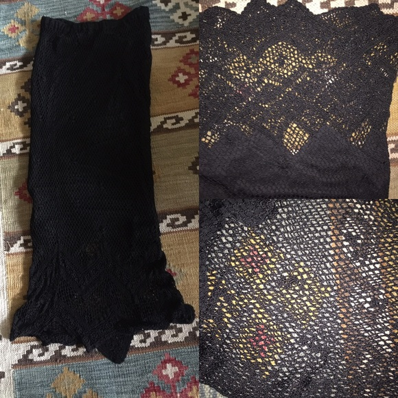 Chico's Dresses & Skirts - Chico's elegant Lacey lined black skirt. Stretches